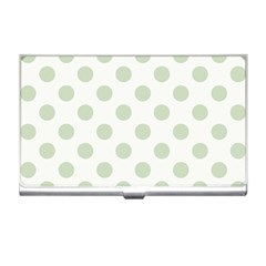Green Dots Modern Pattern Paper Business Card Holders by Celenk