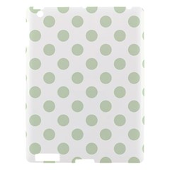 Green Dots Modern Pattern Paper Apple Ipad 3/4 Hardshell Case by Celenk