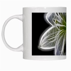 White Lily Flower Nature Beauty White Mugs by Celenk