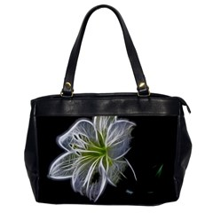 White Lily Flower Nature Beauty Office Handbags by Celenk