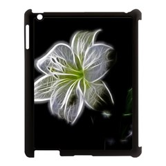 White Lily Flower Nature Beauty Apple Ipad 3/4 Case (black) by Celenk