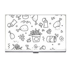 Set Chalk Out Scribble Collection Business Card Holders by Celenk