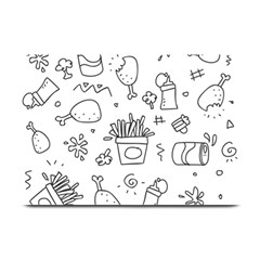 Set Chalk Out Scribble Collection Plate Mats