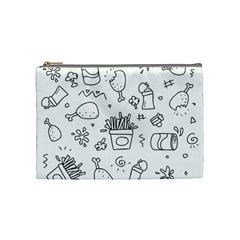 Set Chalk Out Scribble Collection Cosmetic Bag (medium)  by Celenk