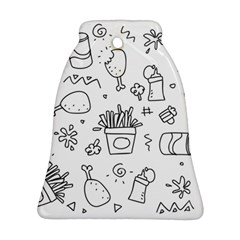 Set Chalk Out Scribble Collection Ornament (bell) by Celenk