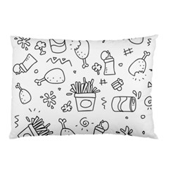 Set Chalk Out Scribble Collection Pillow Case (two Sides) by Celenk