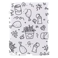 Set Chalk Out Scribble Collection Apple Ipad 3/4 Hardshell Case (compatible With Smart Cover) by Celenk