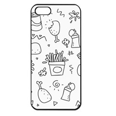 Set Chalk Out Scribble Collection Apple Iphone 5 Seamless Case (black) by Celenk