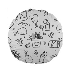 Set Chalk Out Scribble Collection Standard 15  Premium Round Cushions by Celenk