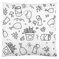Set Chalk Out Scribble Collection Large Flano Cushion Case (two Sides) by Celenk