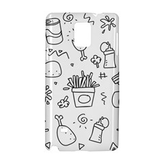 Set Chalk Out Scribble Collection Samsung Galaxy Note 4 Hardshell Case by Celenk