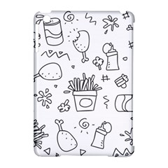 Set Chalk Out Scribble Collection Apple Ipad Mini Hardshell Case (compatible With Smart Cover) by Celenk