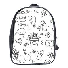 Set Chalk Out Scribble Collection School Bag (xl) by Celenk