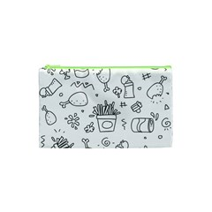 Set Chalk Out Scribble Collection Cosmetic Bag (xs) by Celenk