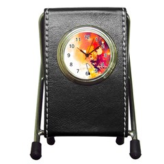 Paint Splash Paint Splatter Design Pen Holder Desk Clocks by Celenk