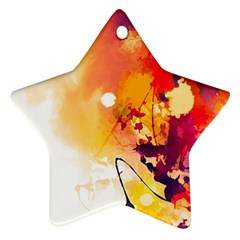 Paint Splash Paint Splatter Design Star Ornament (two Sides) by Celenk
