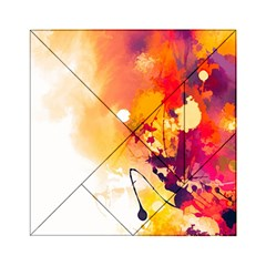 Paint Splash Paint Splatter Design Acrylic Tangram Puzzle (6  X 6 ) by Celenk