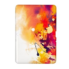 Paint Splash Paint Splatter Design Samsung Galaxy Tab 2 (10 1 ) P5100 Hardshell Case  by Celenk