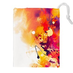 Paint Splash Paint Splatter Design Drawstring Pouches (xxl) by Celenk