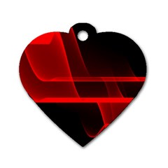 Background Light Glow Abstract Art Dog Tag Heart (two Sides)