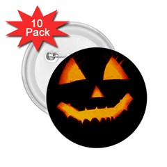 Pumpkin Helloween Face Autumn 2 25  Buttons (10 Pack)  by Celenk