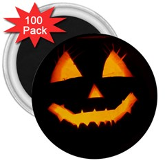 Pumpkin Helloween Face Autumn 3  Magnets (100 Pack) by Celenk