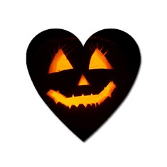 Pumpkin Helloween Face Autumn Heart Magnet by Celenk