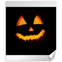 Pumpkin Helloween Face Autumn Canvas 8  X 10  by Celenk