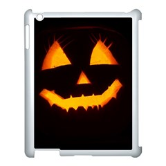 Pumpkin Helloween Face Autumn Apple Ipad 3/4 Case (white) by Celenk
