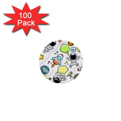 Sketch Set Cute Collection Child 1  Mini Buttons (100 Pack)  by Celenk
