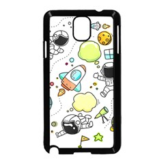 Sketch Set Cute Collection Child Samsung Galaxy Note 3 Neo Hardshell Case (black) by Celenk