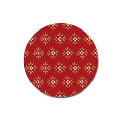 Pattern Background Holiday Magnet 3  (round) by Celenk