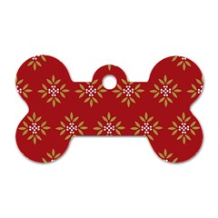 Pattern Background Holiday Dog Tag Bone (two Sides) by Celenk