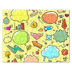 Cute Sketch Child Graphic Funny Rectangular Jigsaw Puzzl by Celenk
