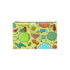 Cute Sketch Child Graphic Funny Cosmetic Bag (small)  by Celenk