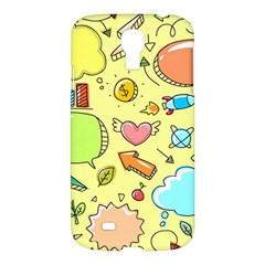Cute Sketch Child Graphic Funny Samsung Galaxy S4 I9500/i9505 Hardshell Case by Celenk