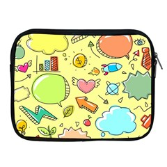 Cute Sketch Child Graphic Funny Apple Ipad 2/3/4 Zipper Cases by Celenk