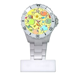 Cute Sketch Child Graphic Funny Plastic Nurses Watch by Celenk