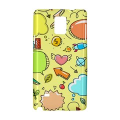 Cute Sketch Child Graphic Funny Samsung Galaxy Note 4 Hardshell Case by Celenk