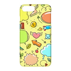 Cute Sketch Child Graphic Funny Apple Iphone 7 Plus Hardshell Case