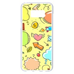 Cute Sketch Child Graphic Funny Samsung Galaxy S8 Plus White Seamless Case by Celenk