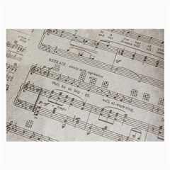 Sheet Music Paper Notes Antique Large Glasses Cloth (2 Side) by Celenk