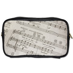 Sheet Music Paper Notes Antique Toiletries Bags 2 Side by Celenk