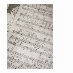 Sheet Music Paper Notes Antique Small Garden Flag (two Sides) by Celenk
