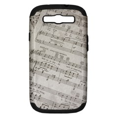 Sheet Music Paper Notes Antique Samsung Galaxy S Iii Hardshell Case (pc+silicone) by Celenk