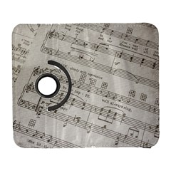 Sheet Music Paper Notes Antique Galaxy S3 (flip/folio) by Celenk