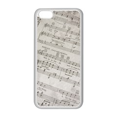 Sheet Music Paper Notes Antique Apple Iphone 5c Seamless Case (white) by Celenk