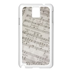 Sheet Music Paper Notes Antique Samsung Galaxy Note 3 N9005 Case (white) by Celenk