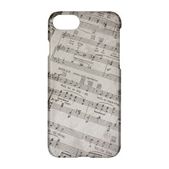 Sheet Music Paper Notes Antique Apple Iphone 7 Hardshell Case by Celenk