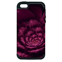 Fractal Blossom Flower Bloom Apple Iphone 5 Hardshell Case (pc+silicone) by Celenk